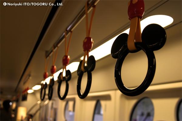 誰が見てもミッキーマウスとわかる形の吊り輪