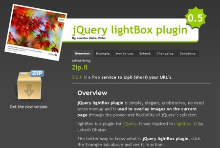 jQuery版lightbox