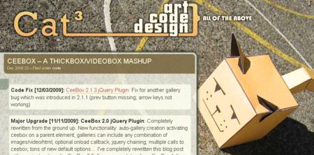 よく見たら ThickboxとVideoboxのMashUpと書いてある。(今気づいたw)