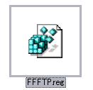 FFFTPの設定があるアイコン