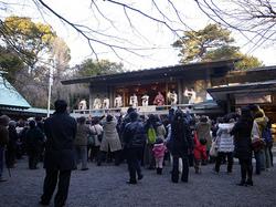 乃木神社の豆まきの様子
